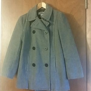 Like new button up peacoat